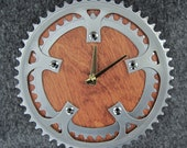 Recycled Double Bike Chainring Wall Clock