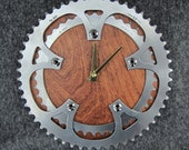 Recycled SR Double Bike Chainring Wall Clock