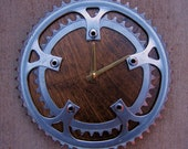 Recycled Sugino Double Bike Chainring Wall Clock