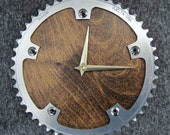 Recycled Vuelta Track Bike Chainring Wall Clock