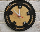Recycled Shimano Double Bike Chainring Wall Clock