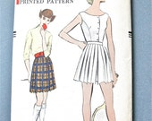 Uncut 50s Vogue 9343 blouse and pleated shorts tennis outfit  Vintage Sewing Pattern 1950s Bust 40 inches