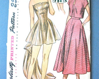 Simplicity Pattern 2448 Misses Bathing Suit And Hooded Etsy
