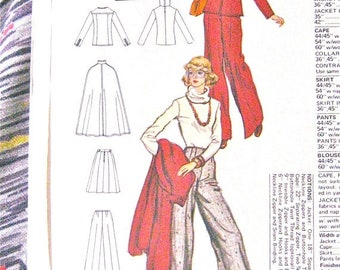 SALE 20% OFF Vogue Designer Cape, Jacket, etc.1970s  Pattern by Anne Klein for Vogue 1160 Uncut Sewing Pattern  Bust 34  inches