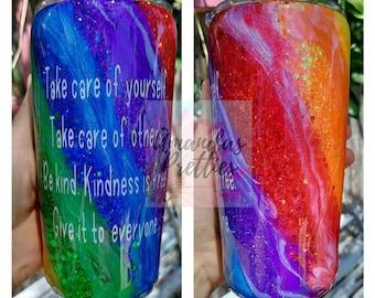 Glittered Rainbow Tumbler