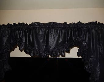 Black Ruffle Curtain