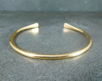 3046dc9d752 2.6mm Gold Filled Cuff Bracelet, 10 Gauge 14K Gold Filled Open Bangle,  14/20 Goldfill Simple Stacking Bracelet, Minimalist Jewelry, Delicate