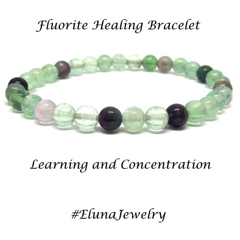 Fluorite Reiki Healing Gemstone Chakra Bracelet PROTECTION of NEGATIVE ENERGY