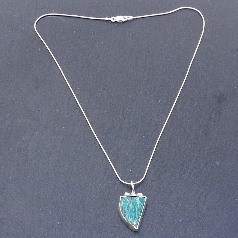 Spiritual Amazonite Pendant Necklace for Harmony