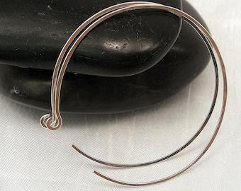 Large Sterling Silver Hoop Earrings, 2.0 inch Silver Hoop Earrings