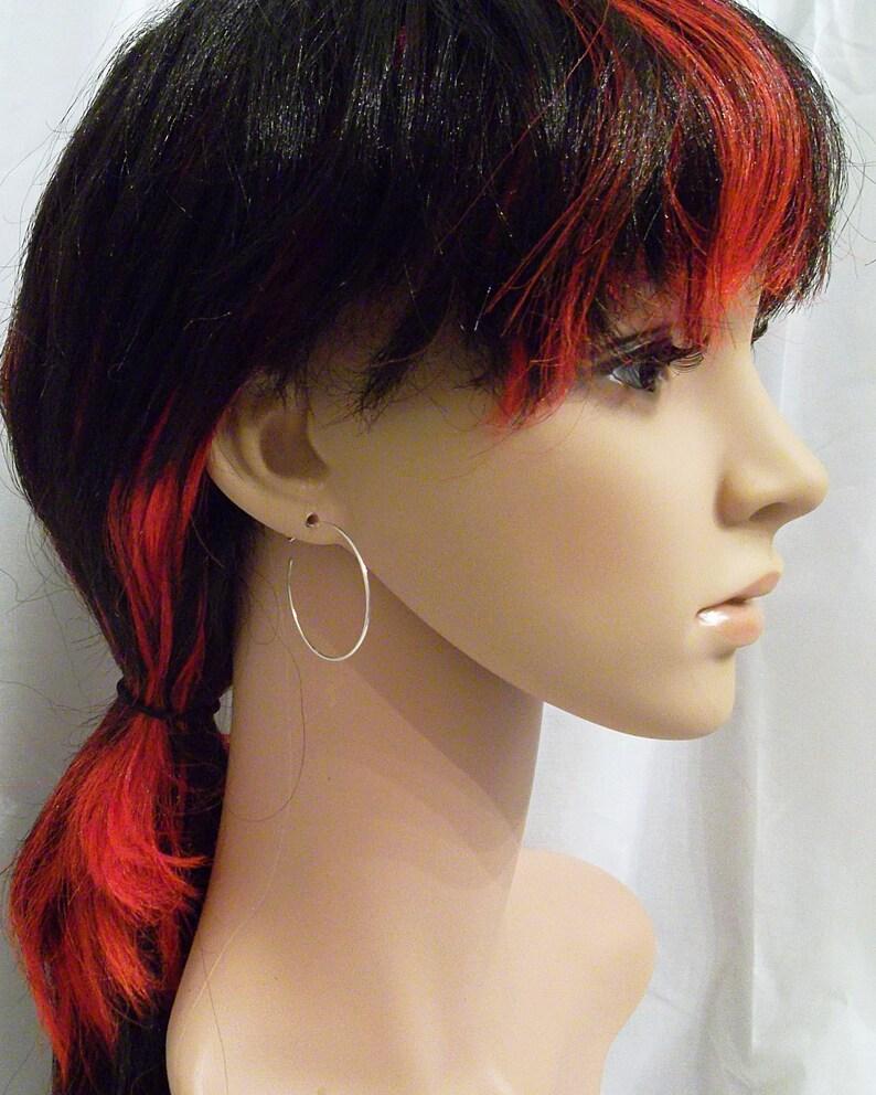 Medium Lightweight Hoop Earrings 1.5 inch Hoop Earrings