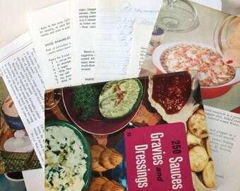 SALE Vintage Cooking Ephemera Scrapbooking Paper Pack