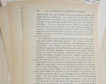 15 Vintage German Book Pages