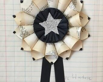 Small Paper Cone Wreath Holiday Ornament
