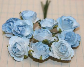 10 Beautiful Blue Paper Roses