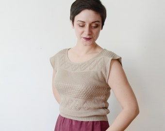 70s/80s Slouchy Knit Top - S/M