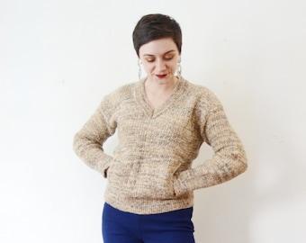 1970s Mohair V-neck Sweater - M