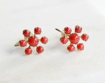 1940s Snowflake Screwback Earrings