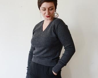 Jantzen Kharafleece 50s Grey Sweater - M