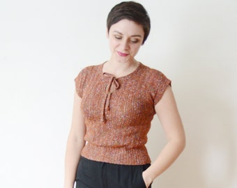 1970s Handknit Top - S