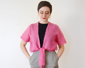 1970s Pink Knit Shrug - S/M/L