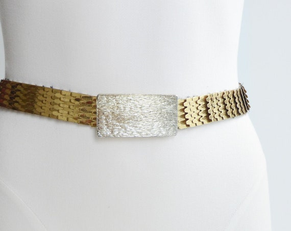 Silver and Gold Dragon Scale Belt