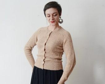 Tan Pendleton Wool Cardigan - S/M