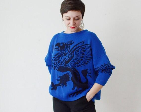 1980s Griffon Sweater - L