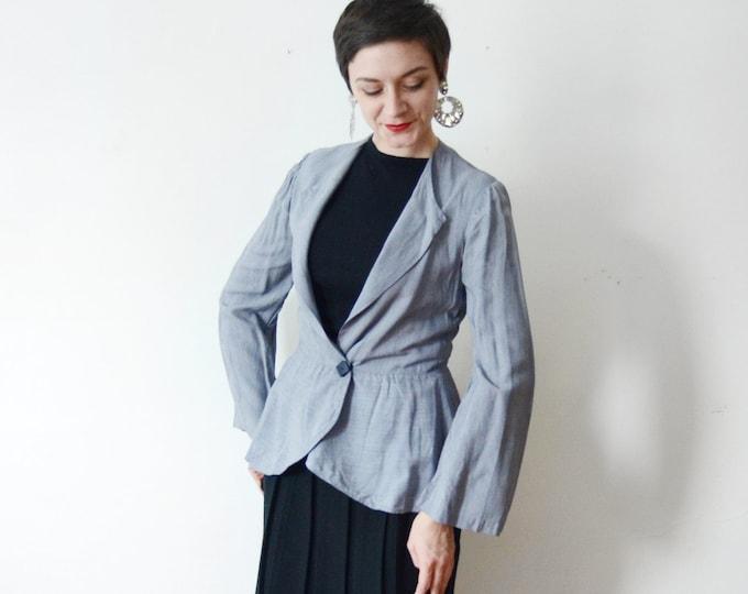 Handmade 1940s Peplum Jacket - S