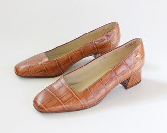 1980s Etienne Aigner Leather Heels - 8
