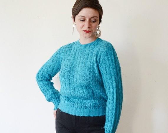 Wrangler 80s Turquoise Sweater - M