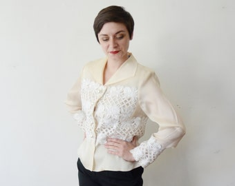 80s Christian Dior Silk Blouse  - M