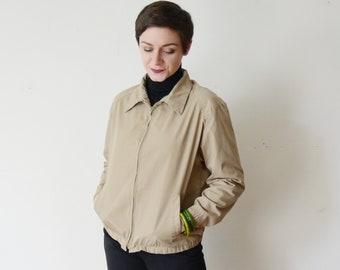 60s/70s Womens Khaki Jacket - S/M