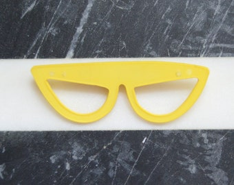 60s/70s Yellow Sunglasses Brooch