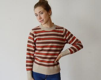 1970s Striped Sweater - S/M