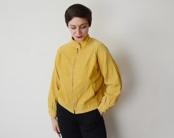 1960s Yellow Corduroy Jacket - S/M