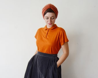 1960s Pumpkin Orange Shirt - M/L
