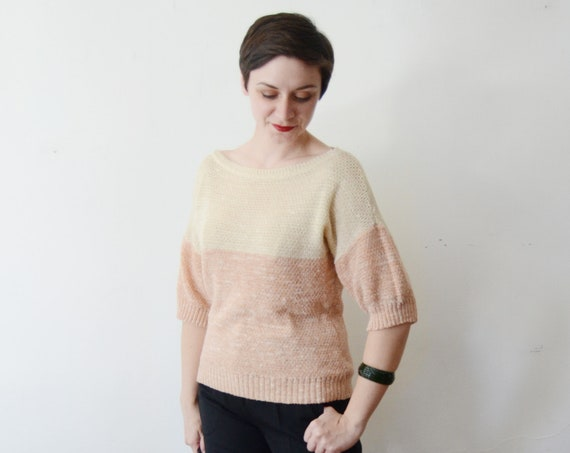 1980s Pink Slouchy Sweater - S/M