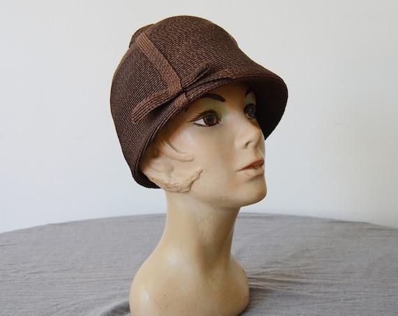 1960s Straw Riding Helmet Hat / 60s Bubble Hat