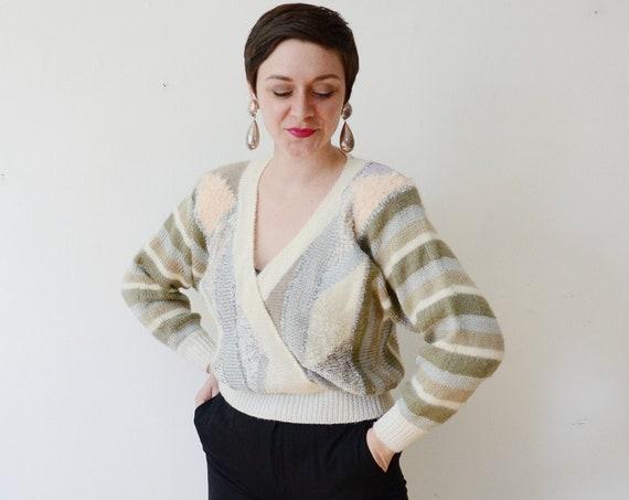 1980s Pastel Metallic Sweater - M/L