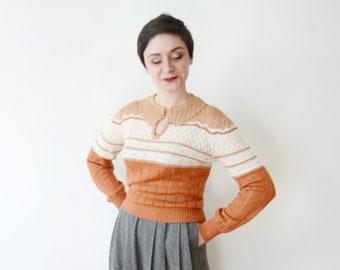1970s Rust Sweater - S/M