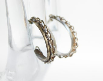 1970s Chainlink Hoop Earrings
