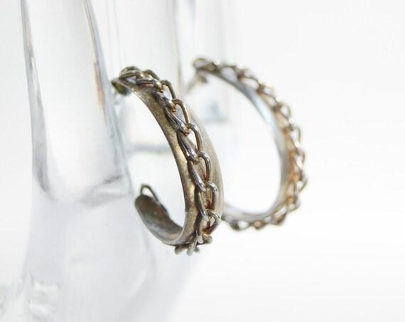 1970s Chainlink Hoop Earrings