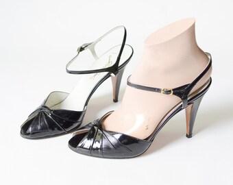 Black Patent Garolini Heels - 8