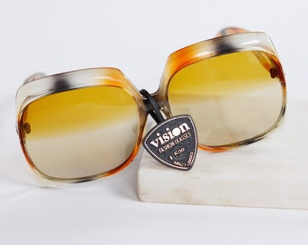 1970s Deadstock Square Sunglasses