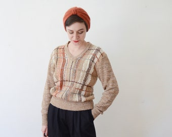 1980s Brown Fiber Arts Sweater - M