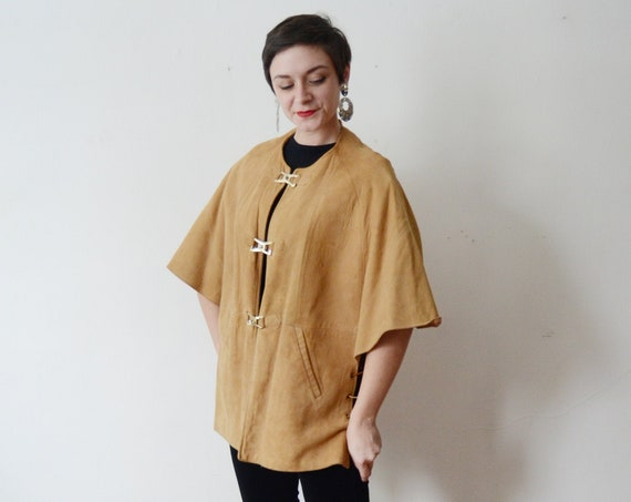 1960s Leather Cape - S/M