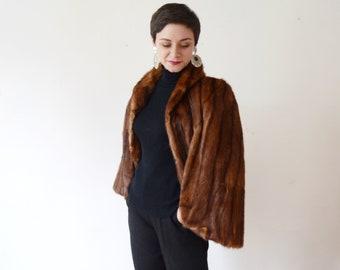 1940s Mink Fur Stole - S/M/L