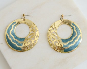 1980s Edgar Berebi Circular Earrings