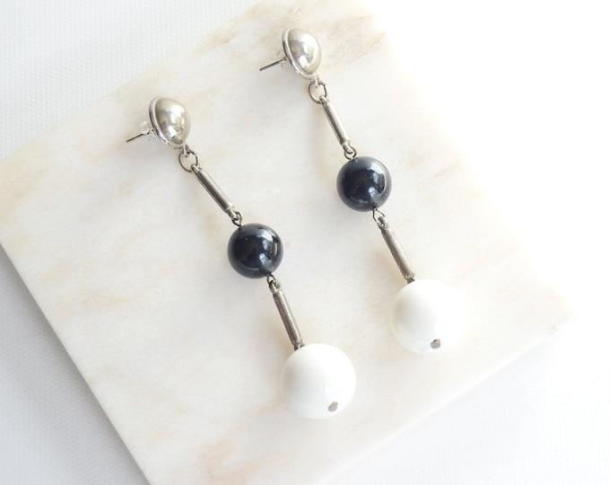 1980s Pierced Dangle Earrings